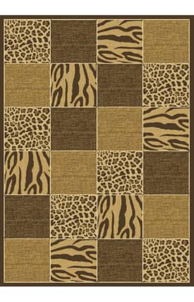 Central Oriental Radiance Skins Safari Rug