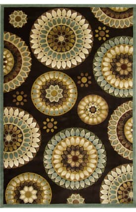 Central Oriental Fusion Retro Flowers Rug
