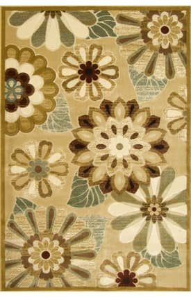 Central Oriental Fusion Funky Flower Rug