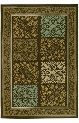 Couristan Covington Outdoor Floral Paisley Rug