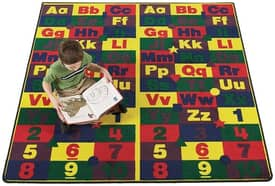 Flagship Carpets Educational Abc 123's Rug