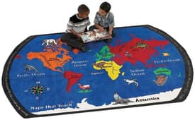 Flagship Carpets Educational Maps That Teach Rug
