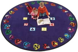 Flagship Carpets Educational Super Circle Rug