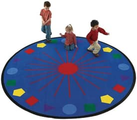 Flagship Carpets Educational Shapes Galore Rug