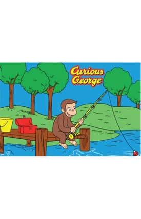Fun Rugs Curious George George Fishing Rug