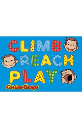Fun Rugs Curious George George Climb Reach Play Rug