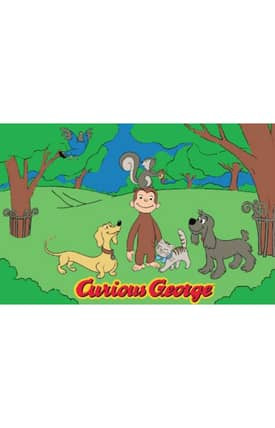 Fun Rugs Curious George George & Friends Rug
