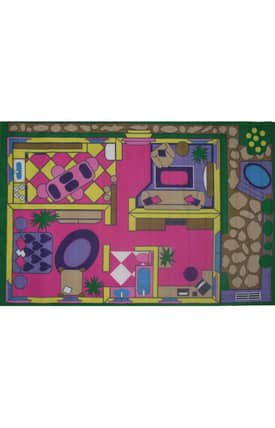 Fun Rugs Funtime Dollhouse Rug