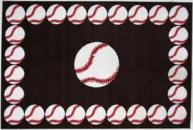 Fun Rugs Funtime Baseball Time Rug