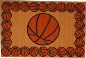 Fun Rugs Funtime Basketball Time Rug