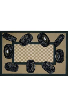 Fun Rugs Funtime Tire Border Rug