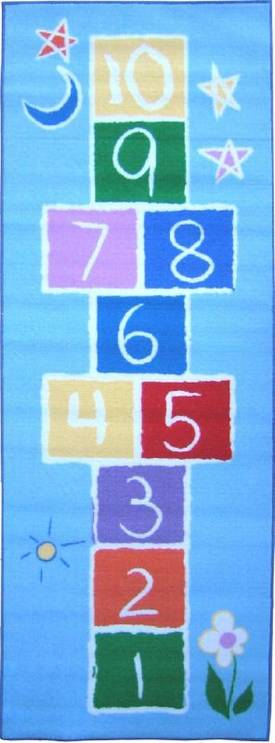 Fun Rugs Funtime Primary Hopscotch Rug