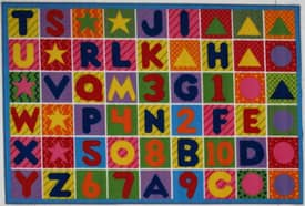 Fun Rugs Funtime Numbers & Letters Rug