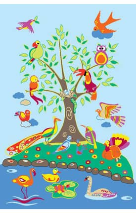 Fun Rugs Funtime Birds of Paradise Rug