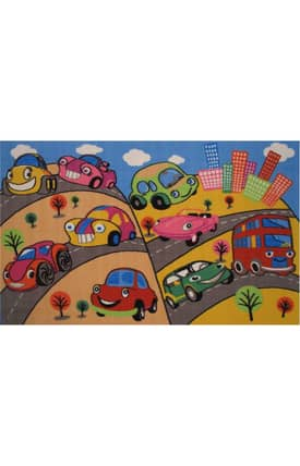 Fun Rugs Funtime Fun Cars Rug