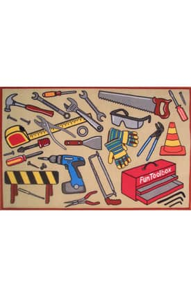 Fun Rugs Funtime Fun Toolbox Rug