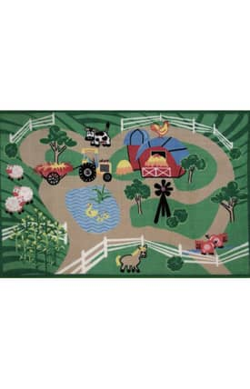 Fun Rugs Funtime Farm Roads Rug