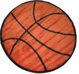 Fun Rugs Funtime Shapes Basketball Rug
