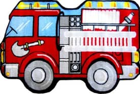 Fun Rugs Funtime Shapes Fire Engine Rug