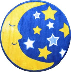 Fun Rugs Funtime Shapes Moon and Stars Rug
