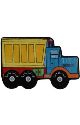 Fun Rugs Funtime Shapes Dump Truck Rug