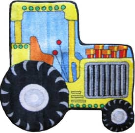Fun Rugs Funtime Shapes Tractor Rug
