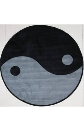 Fun Rugs Funtime Shapes Ying Yang Rug
