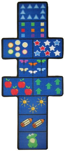 Fun Rugs Funtime Shapes Hopscotch with Counters Rug