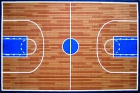Fun Rugs Funtime Basketball Court Rug
