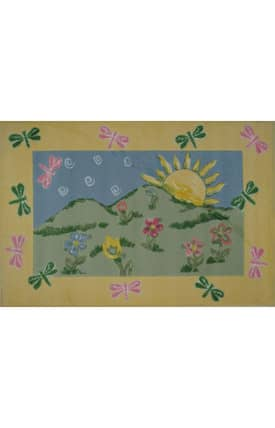 Fun Rugs Jade Reynolds Dragonfly Morning Rug