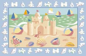 Fun Rugs Olive Sand Castles Rug