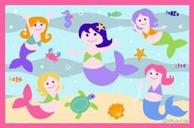 Fun Rugs Olive Little Mermaids Rug