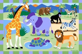 Fun Rugs Olive Zoo Rug