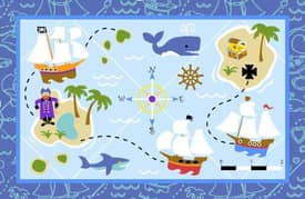 Fun Rugs Olive Pirate Ship Rug