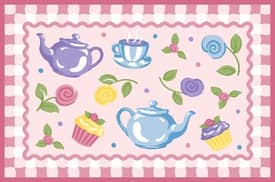Fun Rugs Olive Teapots Rug