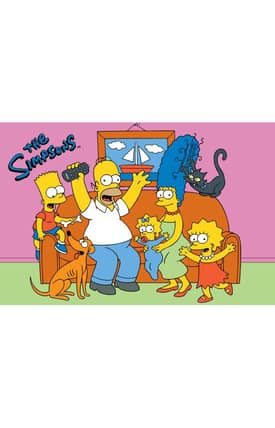 Fun Rugs The Simpsons MP Family Fun Time Rug