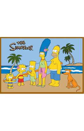 Fun Rugs The Simpsons MP At The Beach Rug