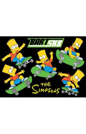Fun Rugs The Simpsons MP Bart SK8 Rug