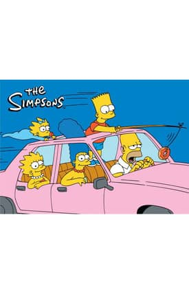 Fun Rugs The Simpsons MP Are We There Yet Rug