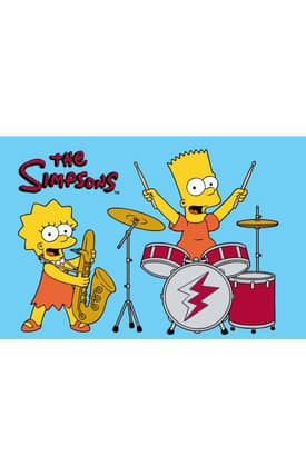 Fun Rugs The Simpsons MP Rock Stars Rug