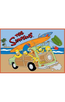 Fun Rugs The Simpsons HP Family Vacation Rug