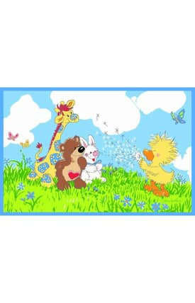 Fun Rugs Little Suzy's Zoo Witzy Makes A Wish Rug