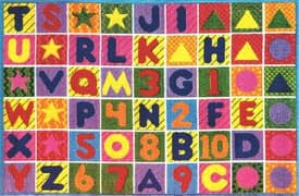Fun Rugs Funtime Supreme Numbers & Letters Rug