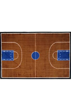 Fun Rugs Funtime Supreme Basketball Court Rug