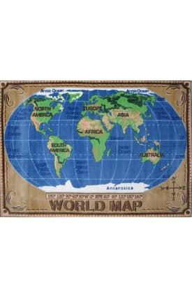 Fun Rugs Funtime Supreme World Map Rug