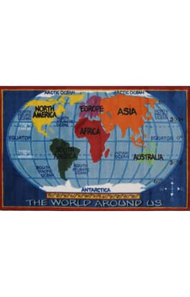 Fun Rugs Funtime Supreme Kids World Map Rug