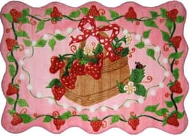 Fun Rugs Funtime Supreme Strawberry Patch Rug