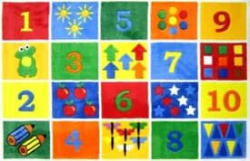 Fun Rugs Funtime Supreme Number Blocks Rug