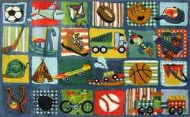 Fun Rugs Funtime Supreme Funky Boys Quilt Rug