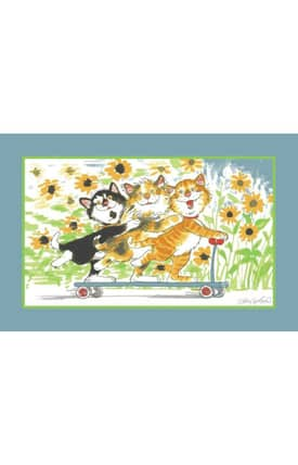 Fun Rugs Wags & Whiskers Duckport Kitties Take A Ride Rug